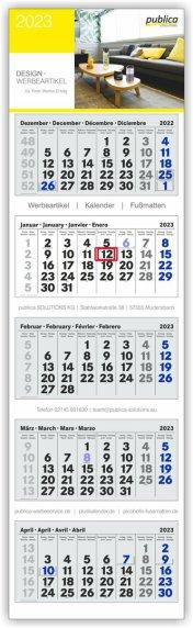 5-Monatskalender hellblau/blau/rot PLUS-Kalender Hersteller