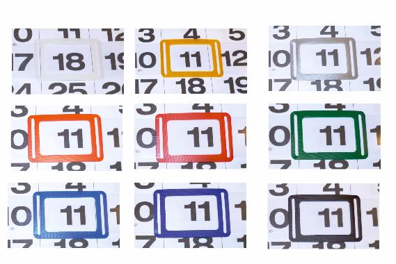 Datumsschieber in Sonderfarbe weiß, gelb, silber, orange, rot, grün, hellblau, dunkelblau, schwarz