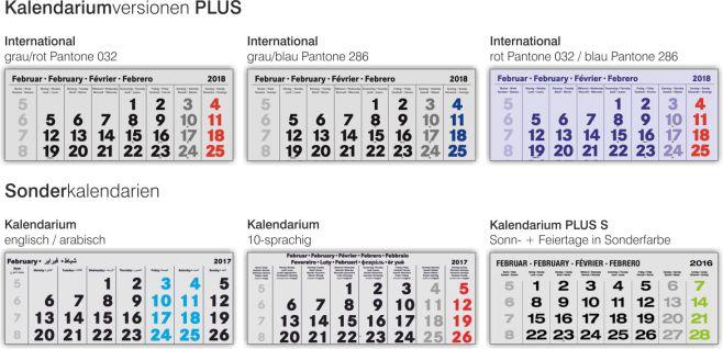 Kalendariumsversionen 4-Monatskalender PLUS