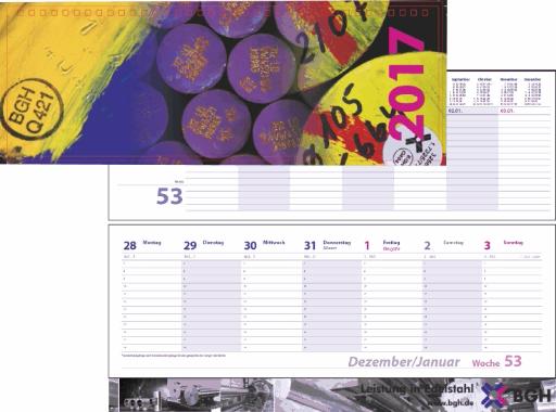 Tischquerkalender Sonderanfertigung mit gewünschte