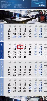 Logic 4-Monatsplaner (Post) B mit verlängerter Fußleiste