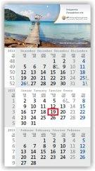 3-Monatskalender/Planer Budget 3