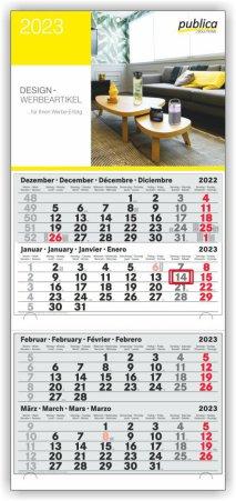 4-Monats-Doppelblockkalender PLUS S