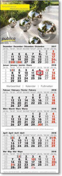 6-Monats-Doppelblockkalender