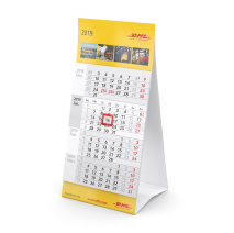 Karton-Tischkalender mit 4-Monats-Kalendarium