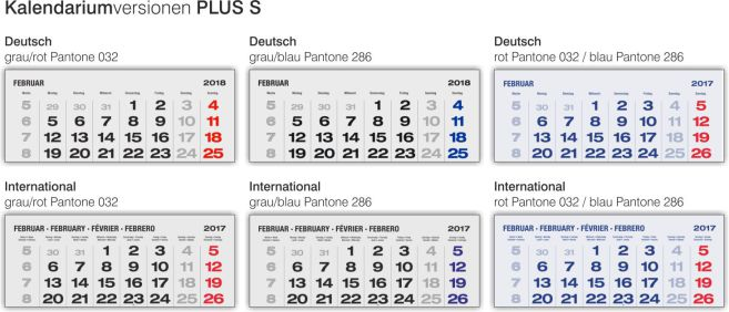 Kalendariumsverisonen 6-Monatskalender PLUS S