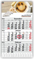 Einblatt-Monatskalender Primus 3 hellgrau