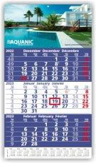 Einblatt-Monatskalender Ultra 3 A dunkelblau