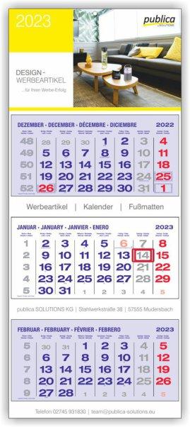 3-MK PLUS S blau mit roten Sonn- und Feiertagen