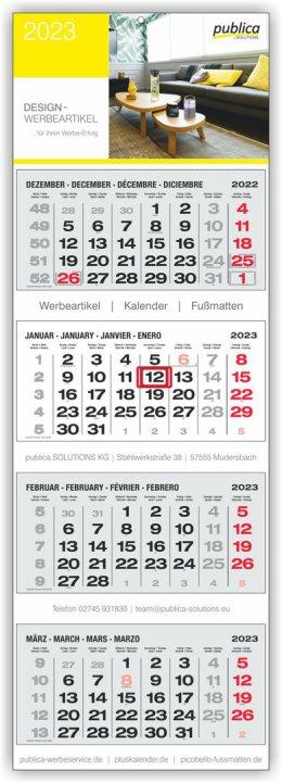 4-MK PLUS S grau mit roten Sonn- und Feiertagen