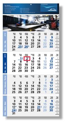 Einblatt-Monats-Planer kalender Logic 4 blau