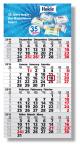 Einblatt-Monatskalender/Planer Mega 4