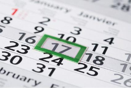 Datumschieber Sonderfarbe grün für Monatsplaner