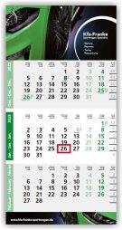 Einblatt-Monatskalender/Planer Logic 3 blau