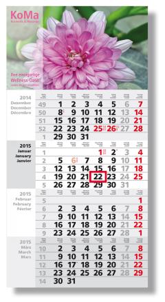Square 4-Monats-Planer/Kalender