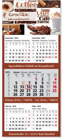 5-Monats-3-Block-Kalender/Planer 345x800mm