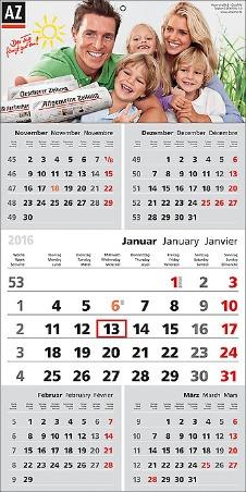 Top Five 5-Monats-Planer/Wandkalender